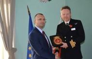"""Чолаков се срещна с командира на военен кораб """"Дънкан"""""""
