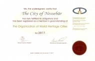 Организацията на градовете световно наследство обнови сертификата на Несебър за 2017 година