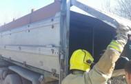 Изгорелият камион с мигранти е на строителите на оградата