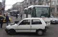 """Кола се натресе в маршрутка на ул. """"Христо Ботев""""/снимки/"""