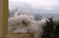 Взрив срина до основи хотел