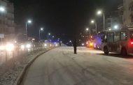 Серия от верижни катастрофи при първия сняг в неделя