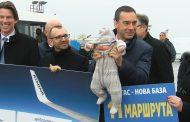 С воден салют посрещнаха първия полет на Ryanair до Летище Бургас (ВИДЕО)