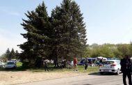 Състезателен автомобил се вряза в публиката на рали в Шумен