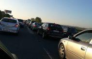 Огромна тапа на изхода на Бургас към магистрала