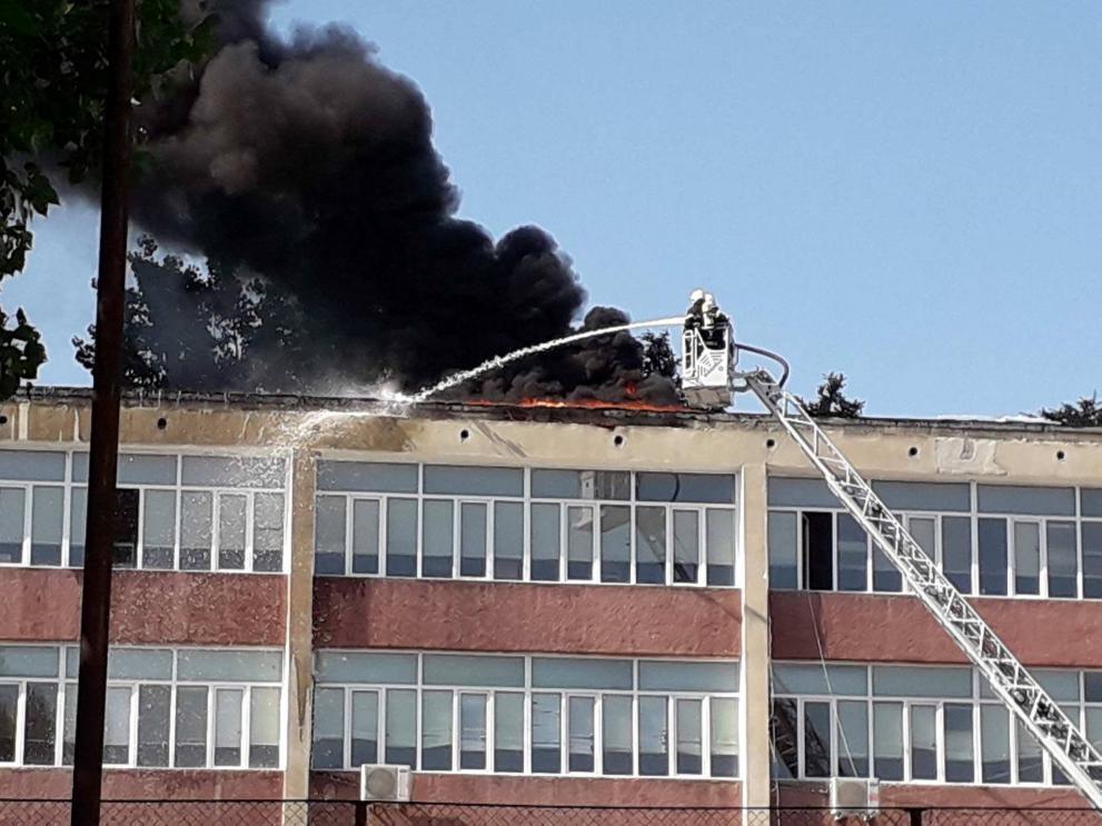 Задържаха два за голям пожар в шуменско училище