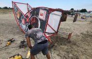 На плаж Крайморие отстраниха щетите от поредната буря/снимки/