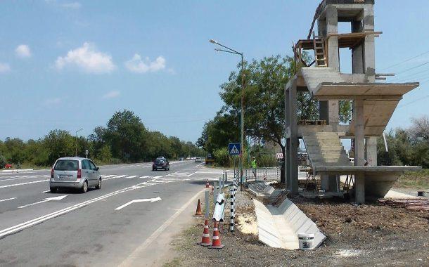 Заличават пешеходната пътека до Атия, вдигат пасарелката до края на месеца /ВИДЕО/