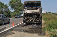 Автобус с израелци пламна на път за Слънчев бряг