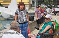 Реформи за всички, поискаха хора с увреждания на палатков лагер в Бургас /снимки/