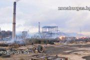 Искра от електрически проводник е запалила сламата в ТЕЦ Сливен /видео/