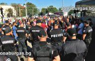 """Работници от """"Вимпром Карнобат""""  блокираха жп линията за София /видео/"""
