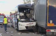 Десетки ранени при катастрофа с автобус в Германия