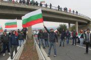 """Магистрала """"Тракия"""" е блокира от протестиращи /видео/"""