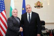 Министър-председателят Бойко Борисов се срещна със заместник-държавния секретар на САЩ Джон Съливан