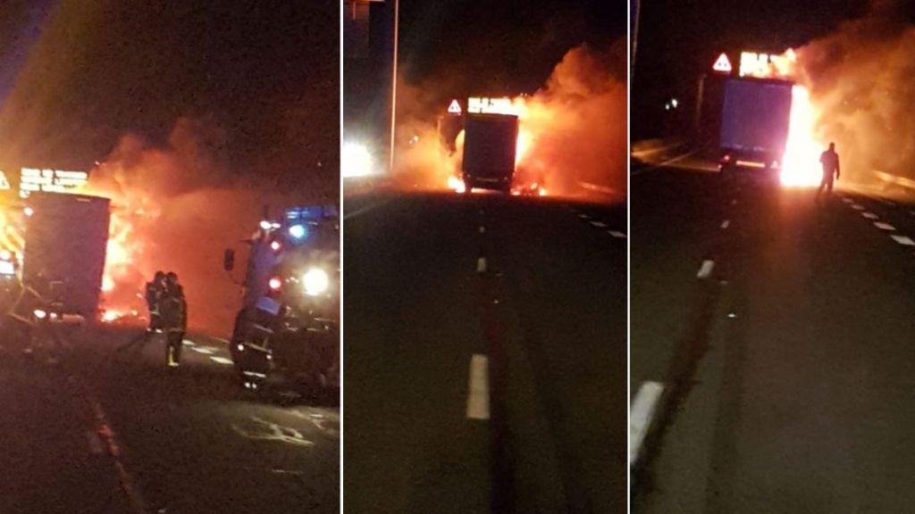 Мигранти нападнаха български шофьор във Франция, тирът му е запален