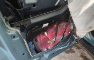 """Лек автомобил, """"тапициран"""" с над 80 кг тютюн за наргиле, откриха митническите служители на МП Малко Търново/снимки/"""