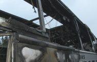 Автобус изгоря на пътя Русе - Бяла, няма пострадали