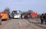 Катастрофа между автобус и микробус край Монтана с една жертва