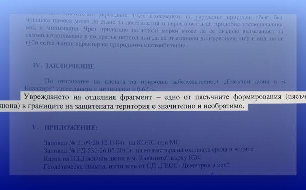 РИОСВ Бургас: Разораната дюна на къмпинг Смокиня е безвъзвратно унищожена