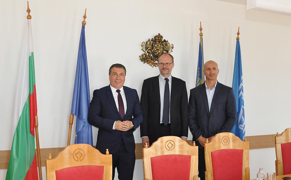 Кметът на Несебър се срещна посланика на Дания