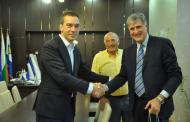 Кметът Николов се срещна с председателя на Европейската федерация по плувни спортове Марко Бирри