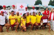 БЧК Бургас отличи плаж Крайморие за отличната организация на водното спасяване/снимки/