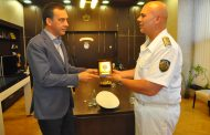 Кметът Димитър Николов се срещна с командира на ВМС контраадмирал Кирил Михайлов