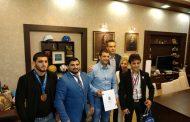 Кметът поздрави Едмонд Назарян за успешната му спортна година