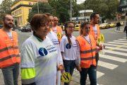 """Кандидатите на ДБГ за Общински съвет станаха """"Пазители на пешеходците"""" в Бургас"""