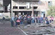 Протест на миньорите в мина