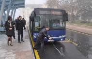 Посрещнаха първия градски автобус на Автогара