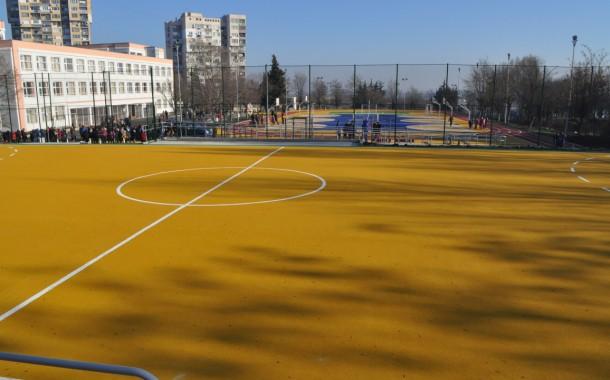 Вижте новото спортно игрище на ОУ