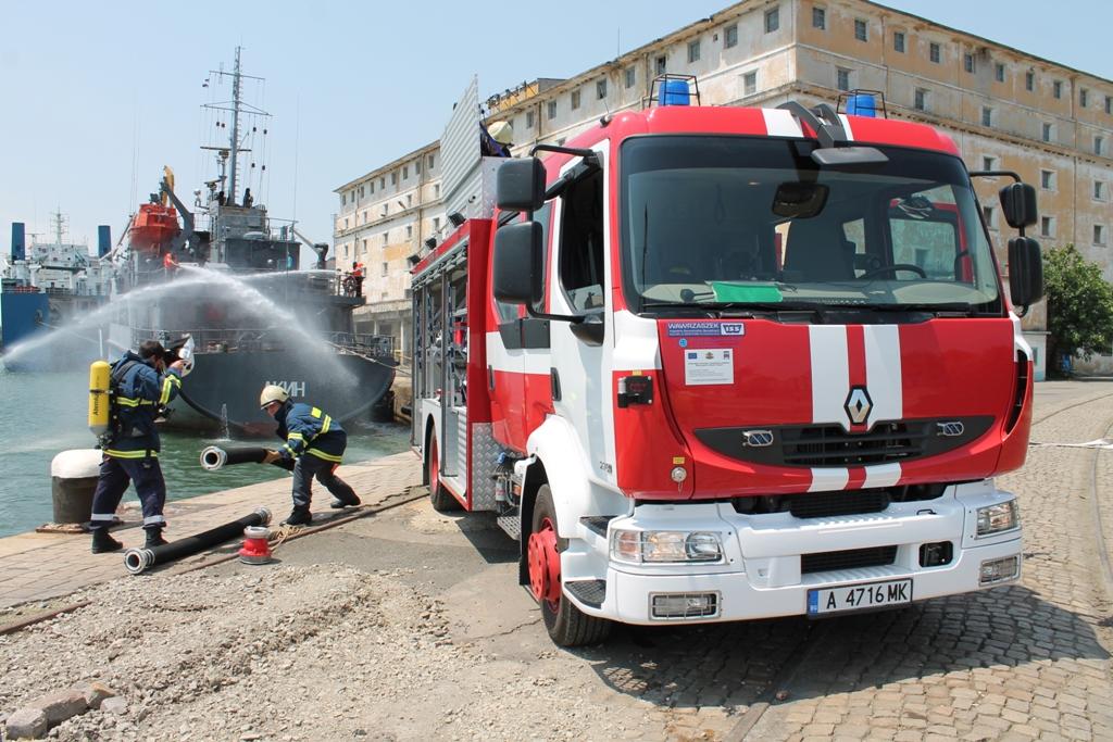 Пожар в кораборемонтния завод във Варна