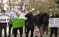 Подкрепиха Динко Вълев с шумен протест в Бургас