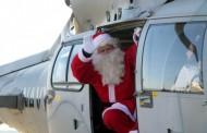 Дядо Коледа кацна с военен хеликоптер