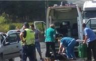 Верижна катастрофа в Сандански, режат ламарини, за да извадят ранена жена
