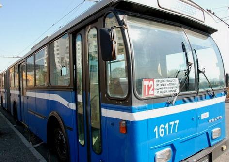 Катастрофа с тролейбус, багер къса жици