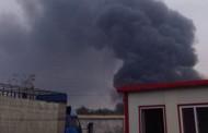 Пожар в изоставен склад за гуми вдигна на крак огнеборците