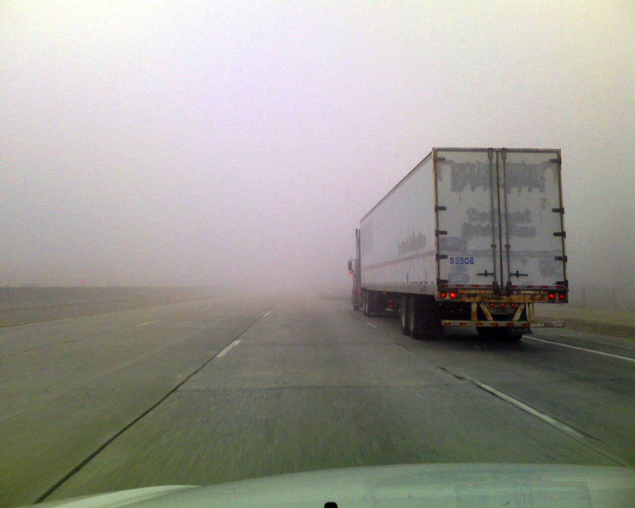 Мъгла в района на Дюлински проход, шофирайте внимателно