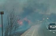 Голям пожар на пътя Бургас - Средец /видео/